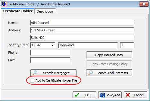 Process Certificates