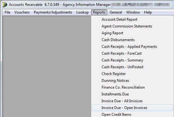 Invoices Due Open Invoices - Open invoice report
