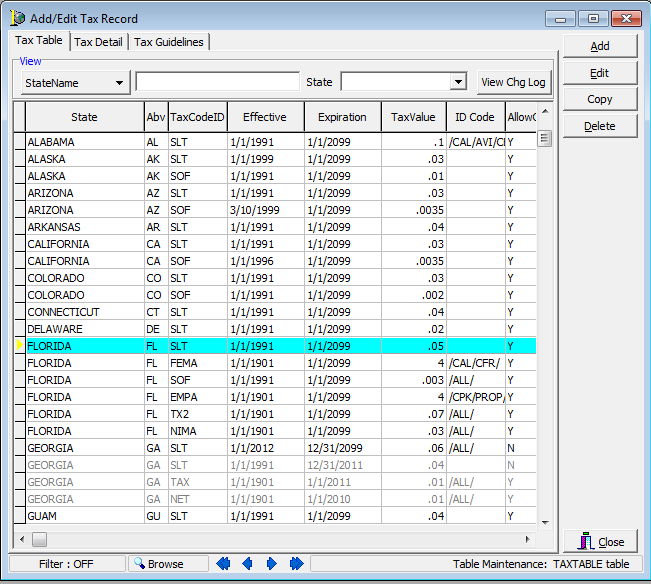 Awe Inspiring Configure The Tax Table Download Free Architecture Designs Viewormadebymaigaardcom