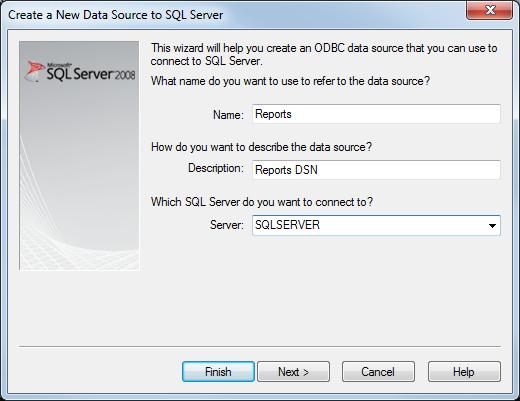 Setup ODBC DSN
