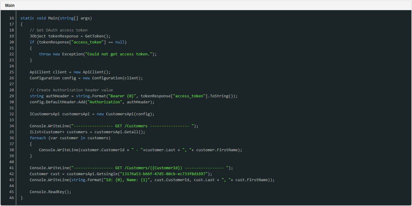 Using C# Client (Swagger CodeGen/Rating APIs)