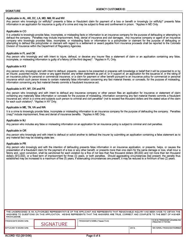 commercial inland marine acord form - Hunt.hankk.co