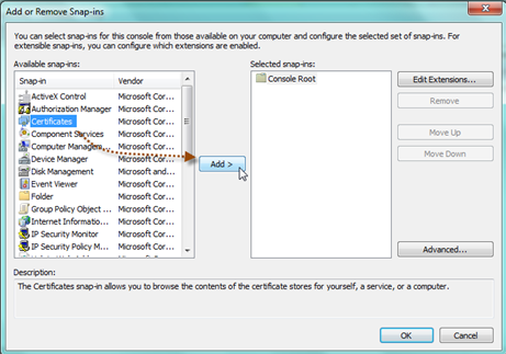 Copy and Configure the SSL Certificate Thumbprint
